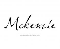 tattoo-design-name-mckenzie-01