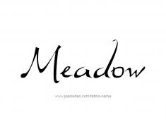 tattoo-design-name-meadow-01