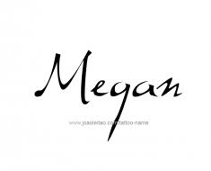 tattoo-design-name-megan-01
