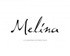 tattoo-design-name-melina-01