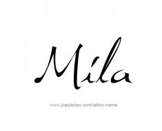 tattoo-design-name-mila-01