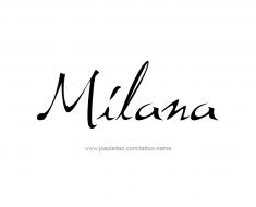 tattoo-design-name-milana-01