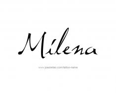 tattoo-design-name-milena-01