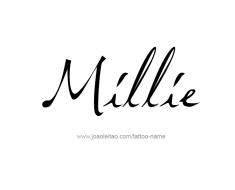 tattoo-design-name-millie-01