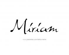 tattoo-design-name-miriam-01