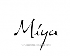 tattoo-design-name-miya-01