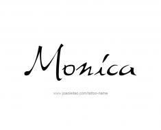 tattoo-design-name-monica-01