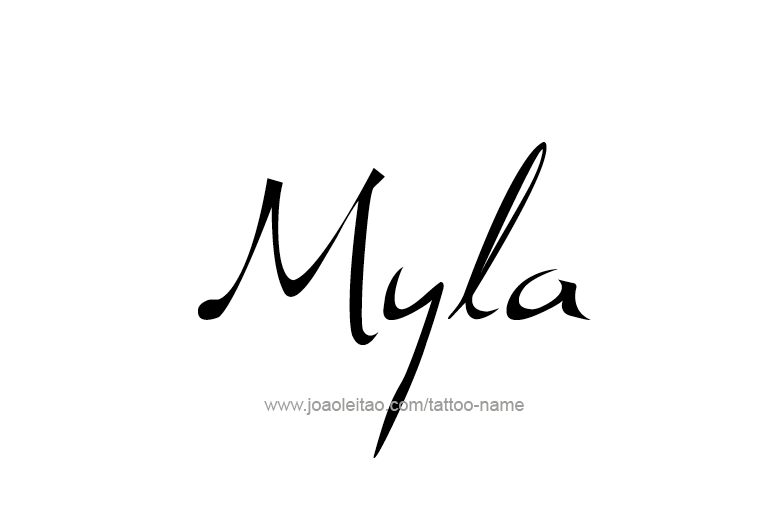 Myla Name Tattoo Designs