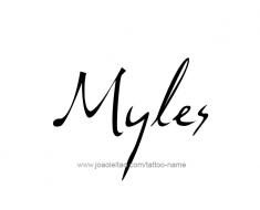 tattoo-design-name-myles-01