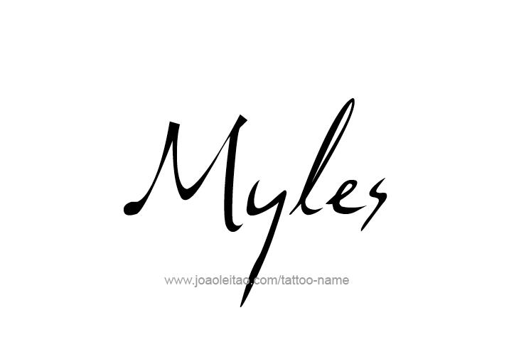 Myles Name Tattoo Designs
