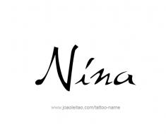 tattoo-design-name-nina-01