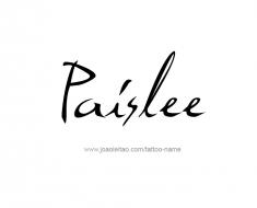tattoo-design-name-paislee-01