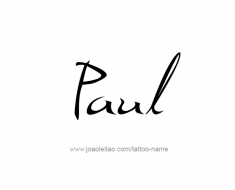 tattoo-design-name-paul-01