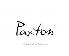 tattoo-design-name-paxton-01