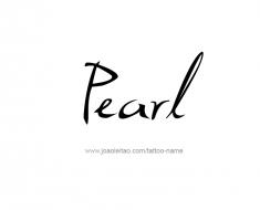 tattoo-design-name-pearl-01