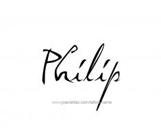 tattoo-design-name-philip-01