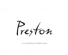 tattoo-design-name-preston-01