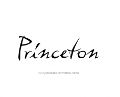 tattoo-design-name-princeton-01