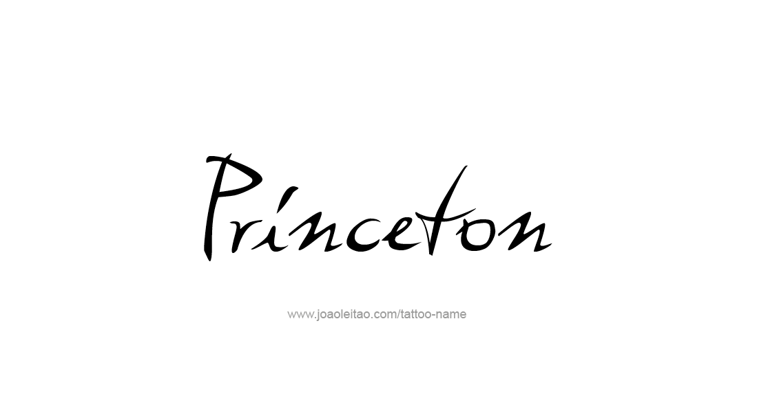 Princeton Name Tattoo Designs