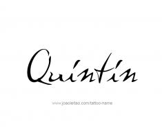 tattoo-design-name-quintin-01