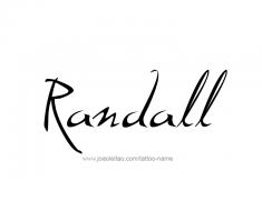 tattoo-design-name-randall-01