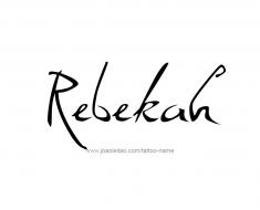 tattoo-design-name-rebekah-01