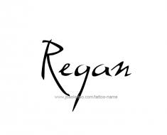 tattoo-design-name-regan-01