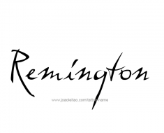tattoo-design-name-remington-01