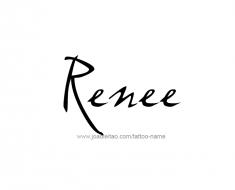 tattoo-design-name-renee-01