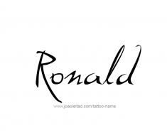 tattoo-design-name-ronald-01