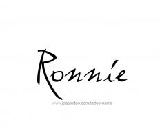 tattoo-design-name-ronnie-01