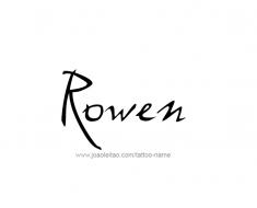 tattoo-design-name-rowen-01