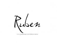 tattoo-design-name-ruben-01