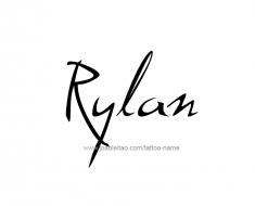 tattoo-design-name-rylan-01