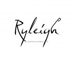 tattoo-design-name-ryleigh-01