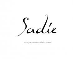 tattoo-design-name-sadie-01