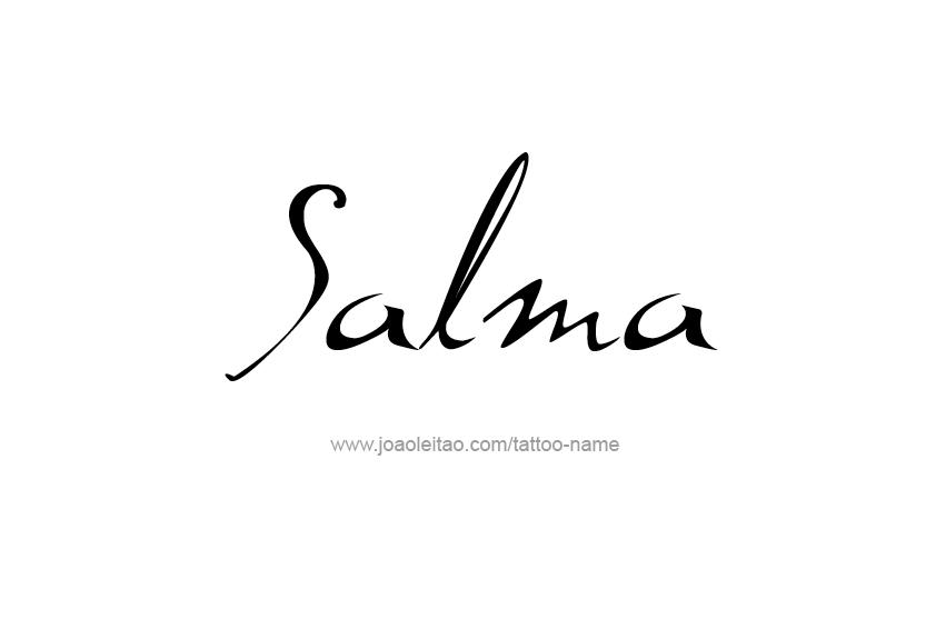 Salma Name Tattoo Designs