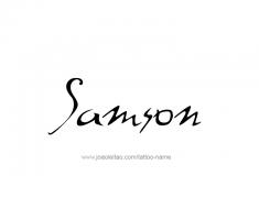 tattoo-design-name-samson-01