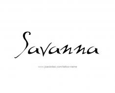 tattoo-design-name-savanna-01