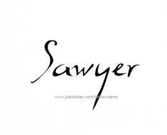 tattoo-design-name-sawyer-01