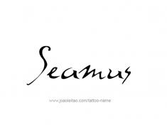 tattoo-design-name-seamus-01