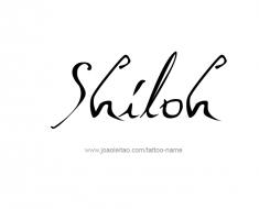 tattoo-design-name-shiloh-01