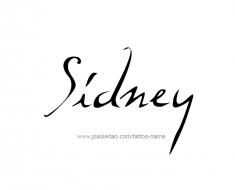 tattoo-design-name-sidney-01