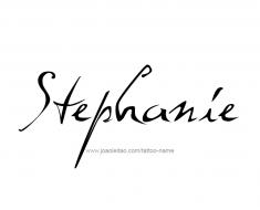 tattoo-design-name-stephanie-01