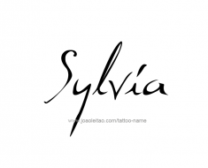 tattoo-design-name-sylvia-01