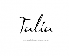 tattoo-design-name-talia-01