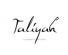 tattoo-design-name-taliyah-01