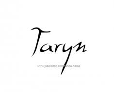 tattoo-design-name-taryn-01
