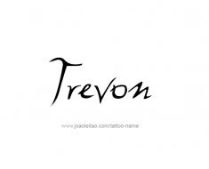tattoo-design-name-trevon-01