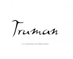 tattoo-design-name-truman-01